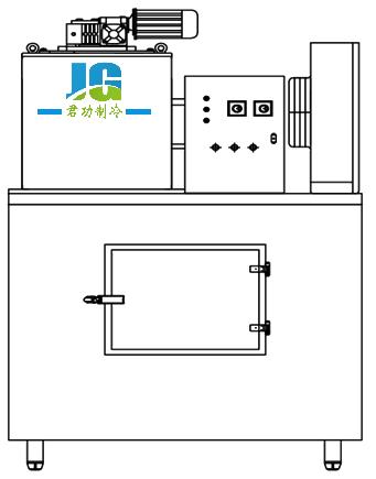 循环水泵将水抽到制冰机单体的分水盘内
